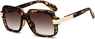 LUKEEXIN Square Shape Oversized UV Protection Sunglasses for Women Men Colored Lens Outdoor Travelling Driving (Color : Leopard Frame)