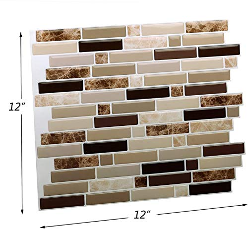 12 X 12 Peel And Stick Self Adhesive Kitchen Backsplash Stick On Tile Backsplash For Kitchen Bathroom 10 Sheets Buy Online In India At Desertcart Productid 177879306