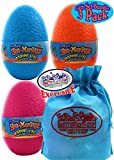Schylling Sea-Monkeys Instant Life Mystery Eggs Blue, Pink & Orange Gift Set Bundle with Bonus Matty's Toy Stop Storage Bag - 3 Pack