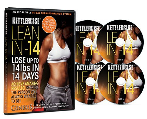 Kettlercise Lean-IN-14, 4 Disc DVD Collection - New Kettlebell Transformation Program for Beginners to Advanced