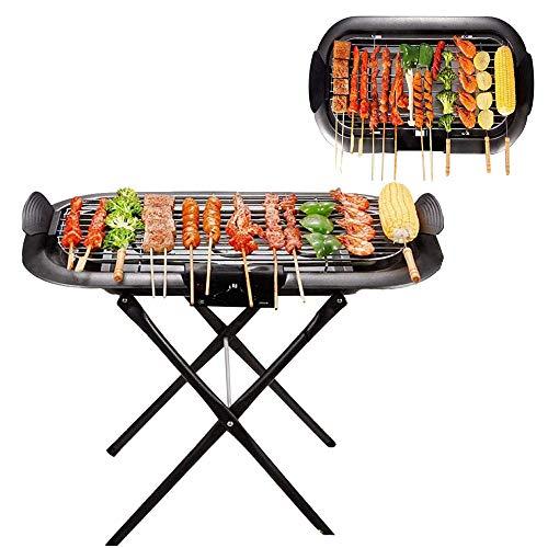 Piastra Barbecue Per Barbecue, Piastra Antiaderente, Antiaderente Per Interni Senza Fumo Con Vassoio Antigoccia A Temperatura Regolabile E Maniglie Touch Fredde Con
