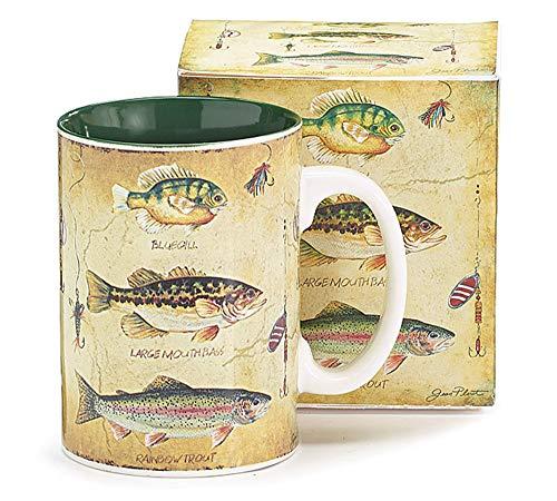 Species of Fish Fisherman's Porcelain Coffee Mug