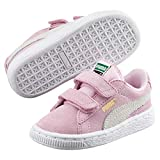 Puma Suede 2 Straps Inf, Baskets Basses Mixte Enfant, Rose (Pink Lady/Team Gold), 26 EU