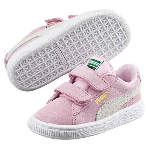 Puma Unisex-Kinder Suede 2 straps Inf Sneaker, Pink, 26 EU