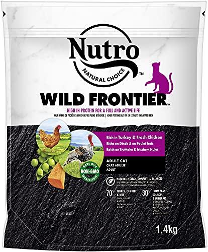 NUTRO WILD Frontier Katzenfutter Trockenfutter mit verschieden Geschmackssorten und Größen (Truthahn & Huhn, 1,4kg)