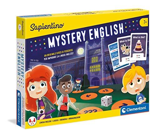 Clementoni - 11349 - Sapientino - Mystery English, gioco di percorso - Made in Italy - gioco educativo 7 anni - gioco per imparare inglese bambini go english
