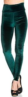 High Waisted Ultra Soft Stretchy Velvet Leggings in Black Burgundy Green (Plus S-3XL)