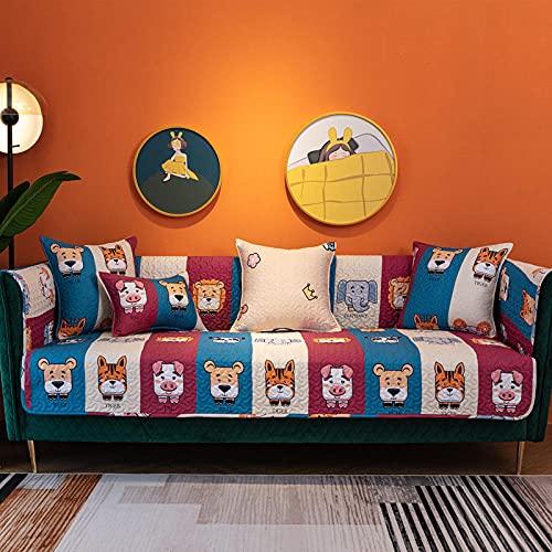 KENEL Combinación Textile Funda Sillon, Chaise Longue Protector De Muebles para Cubierta de Toalla de cojín de sofá de impresión de Tela para Todas Las temporadas-110 * 110 cm_# 1-Vendido en