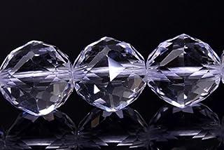 【福縁閣】12mm 水晶スターカット AA 1連(約38cm)Rock crystal_R1283 天然石 パワーストーン ビーズ