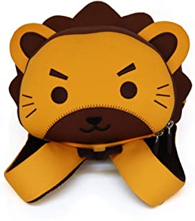 BAGGEL - Mochila Infantil para Niños y Niñas | Modelo León | Fabricada con Neopreno | Mochilas 3D de Animales | Ideales para guardería, Escuela, Viajes, Deporte | 25.5 cm x 21.5 cm x 15.5 cm |