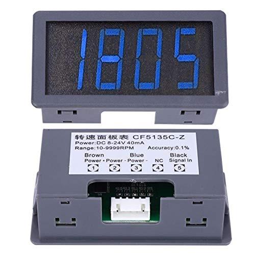 Tacómetro de motor de respuesta rápida Tacómetro LED azul para medición de velocidad. Lectura de 4 dígitos(Speedometer)