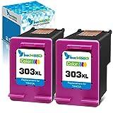 Inkwood Remanufactured para HP 303XL 303 XL Cartuchos de Tinta (2 Colores) para Envy Photo 7134 7830 6232 6230 7130 6220 6234 7100 7155 7800 7834 7855 7864 Tango X