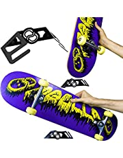 MEOLLO Soporte Colgador para Skateboard (100% Acero). Vertical y Horizontal.
