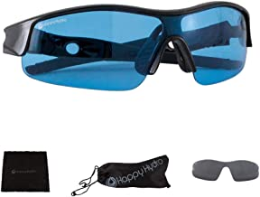 Happy Hydro - HPS Grow Room Glasses - Blue Lens for Protection from HPS Lighting - UV Blocking Wrap Around Design