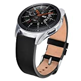 V-MORO Gear S3 Armband/Galaxy Watch 46mm Armband, Echtes Leder Smart Uhrenarmband Armbands Ersatz Armband Bänder Kompatibel für Samsung Galaxy Watch 3 45mm
