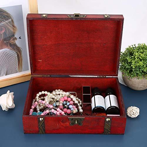 Caja de almacenamiento de joyas Contenedor de joyas clásico, para almacenamiento en el hogar