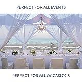 6 Weiße Einweg Tischdecken aus Kunststoff, Rechteckige Plastiktischdecke, Halbtransparent Partytischdecken, Tischabdeckung 275x135cm - Elegant & Wasserdicht| Catering Partys Geburtstage Hochzeiten - 4