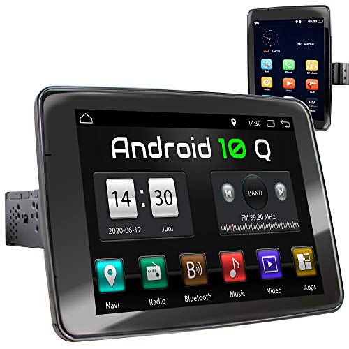 XOMAX XM-VA910R Autoradio mit Android 10, Quad Core, 2GB RAM, 32GB ROM, GPS Navigation I Support: WiFi WLAN, 3G 4G, DAB+, OBD2 I Bluetooth, 9 Zoll / 22,8 cm IPS Touchscreen, USB, SD, 1 DIN