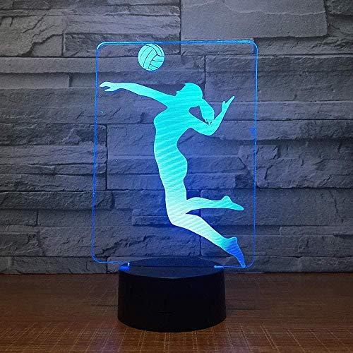 DXJA HCDZF Voleibol 3D LED lámpara de color LED de noche Lámparas para niños Touch Led USB Mesa Lampara Lampe Bebé Dormir Nightlight Regalo 3D noche luz 16 colores