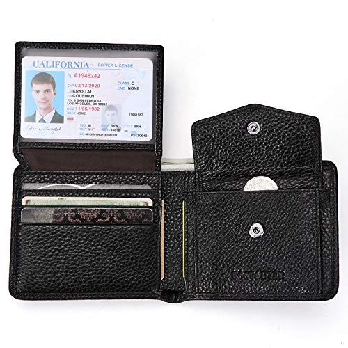 male wallets BOSTANTEN Genuine Leather Wallets for Men Bifold RFID Blocking Wallet with 2 ID Window