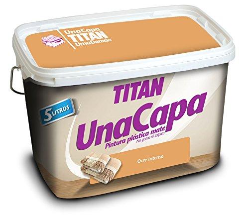 Titan - Pintura Plstica Mate Ocre Intenso Titan Una Capa 750 Ml