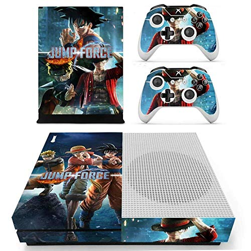 Game Jump Force Skin Sticker Decal For Xbox One S Console & Kinect & 2 Controllers For Xbox One Slim Skin Stickers Vinyl