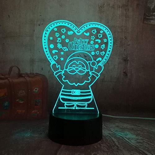 Luz De Ilusión 3D Luz De Noche Led Feliz Linda Lámpara De Mesa Para Ancianos Decoración Del HogarRegalo DeCumpleaños Para Niños