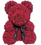 Wide.ling Rose Bär Puppe Plüsch Puppe Teddy Bär aus PE Schaum Dekoration Geschenk für...