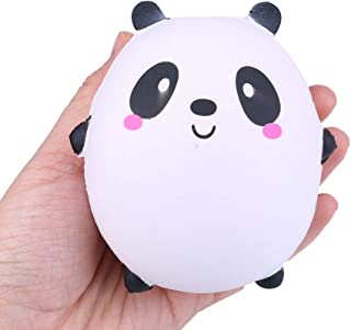 Naiflowers Squeeze Toys, Cat Panda Cat Cow Slow Rising Jumbo Squishy Kawaii Simulation Scented Stress Relief Toys for Kids Toddler Adults, Mochi Squishies Toys Novelty Party Gifts (Panda)