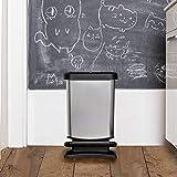 Rotho Paso Mülleimer 20l mit Pedal und Deckel, Kunststoff (PP) BPA-frei, weiss metallic, 20l (29,3 x 26,6 x 45,7 cm) - 5