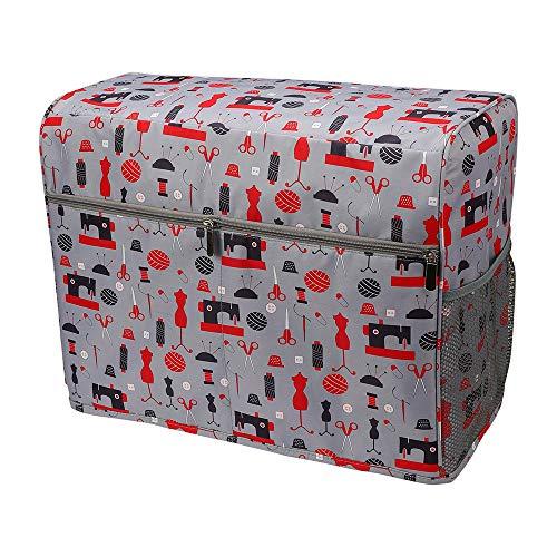XQK Máquina De Coser Cubierta De Polvo, Protección contra El Polvo Gris Caso De La Bolsa, Ordenado Puntadas De Costura De La Máquina Llevando Bolsillos con La Bolsa De Almacenamiento
