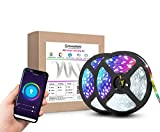 The smart led light strip is compatible with Amazon Echo devices and Google Assistant. To turn on and off the lights, increase/dim their brightness and change the strips colour by your voice commands demand. Set the perfect Atmosphere by using simple...