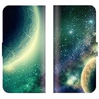 シンプルスマホ3 509SH 対応 スマホケース 全機種対応 手帳型 宇宙 惑星 星 星柄 月 プラネタリウム 銀河 コスモ 空 スペース space スマートフォン ケース