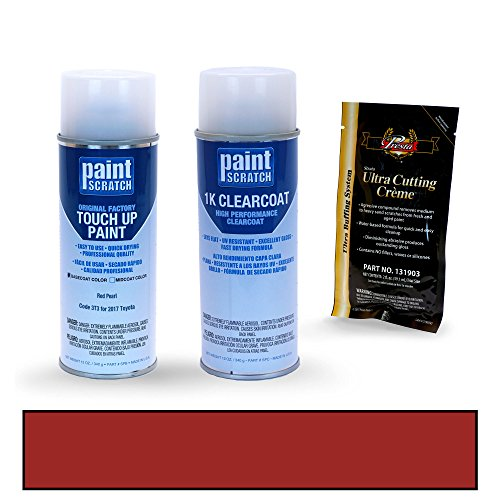 PAINTSCRATCH Red Pearl 3T3 for 2017 Toyota Camry - Touch Up Paint Spray Can Kit - Original Factory OEM Automotive Paint - Color Match Guaranteed