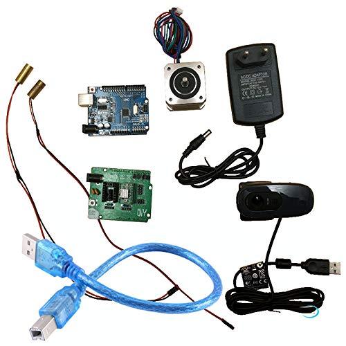 Reprap Ciclop 3D-Scanner-Elektronik-Kit, Motor, Laser, UNO-Controller, ZUM Scan-Erweiterungskarte, Stecker, komplettes Kamera-Kit