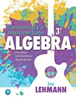 Elementary & Intermediate Algebra: Functions and Authentic Applications, 3rd Edition Front Cover