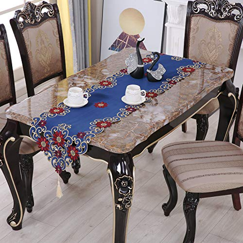 Generico Modern Fashion Purple Embroidered Lace Table Runner Table Cloth Living Room Long Table Drawer Cover Cloth Dinner Table Decoration 40x176cm