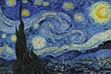 Close Up Starry Night Poster Vincent Van Gogh (91,5cm x