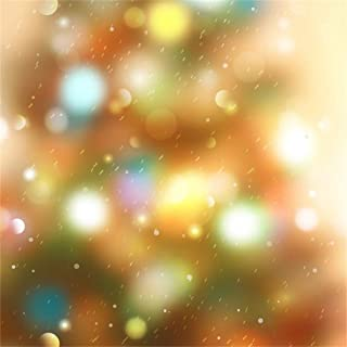 Leyiyi 4x4ft Raining Backdrop Bokeh Halo Banner Rain Drops Night Street Light Snowflakes Cold Winter Merry Christmas Celebrity Photography Background Happy New Year Photo Studio Prop Vinyl Wallpaper