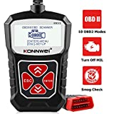 KONNWEI KW310 OBD2 Scanner Full OBDII Functions 10 Modes Car Engine Diagnostic Scanner Tool for All 1996 and Newer Cars (Black) obd2 scanners Jan, 2021