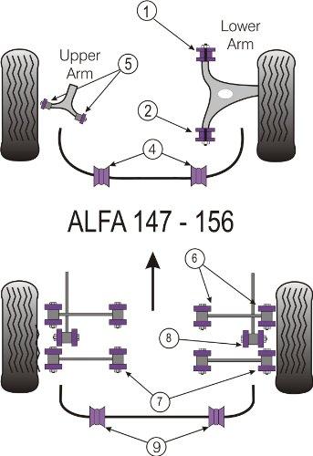 Powerflex PFR1-819-14 - Boccola per barra anti-rollio posteriore