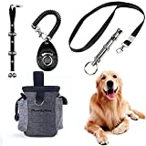 STARROAD-TIM Puppy Training Set 4 Pcs Adjustable Puppy Doorbells for Dogs Training Treats Bag Whistle to Control Stop Barking Pet Trainer Dog Training Clicker