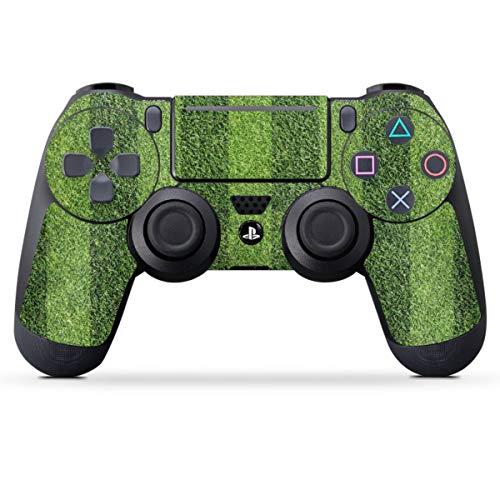 DeinDesign Skin kompatibel mit Sony Playstation 4 PS4 Pro Controller Folie Sticker Fußball Rasen Wiese