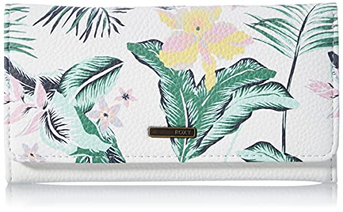 Roxy Hazy Daze-Wallets For Women, Travel Accessory-Cartera bi-Fold para Mujer, Color Blanco Brillante, Talla única