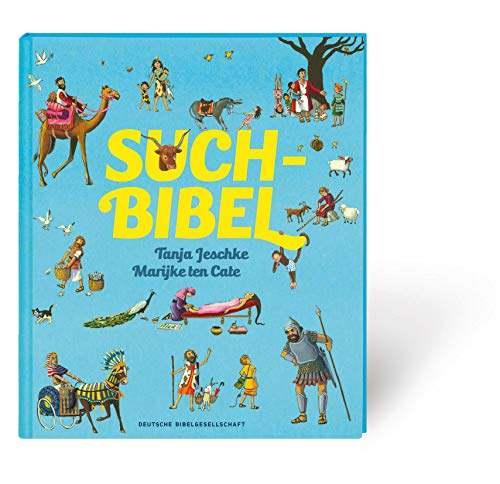 Such-Bibel. Großformatiges Wimmelbuch für Kinder ab 4 Jahren. Bilderbuch mit Bibelgeschichten für Kinder. Besonders als Geschenk, im Kindergottesdienst oder für Religionsunterricht geeignet