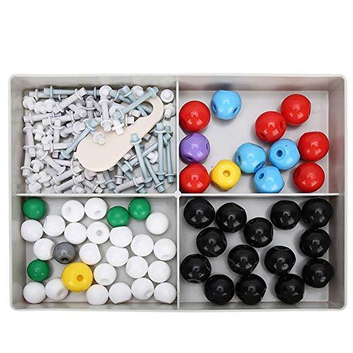 Garosa Kit de Modelo de química Molecular de 125 Piezas, Modelo 54x Atom, Llave de Enlace 70x, Herramienta de Apertura de Llave 1x