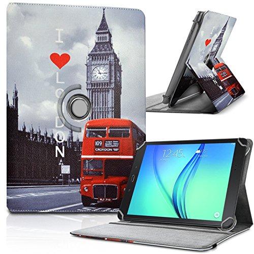 KARYLAX - Funda de protección y soporte universal L (27,5 x 19 cm), diseño ZA05 para Lenovo Yoga Tab 3 Plus