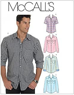 McCall's Patterns M6044 Men's Shirts, Size XM (SML-MED-LRG)
