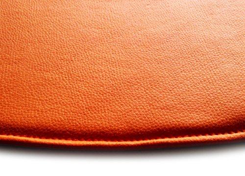 Coussins De Siège en Similicuir pour Chaise Eames Style DAW DSR DAR RSR DSW DSS RAR (Orange)