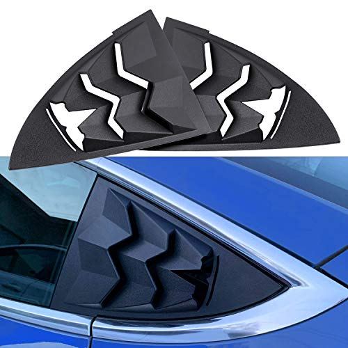 DXGTOZA Rear Quarter Side Window Louvers for Tesla Model 3, GT Lambo Style Window Visor Cover ABS Sun Rain Shade Vent